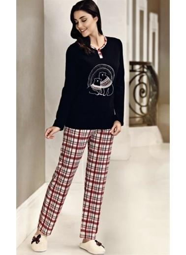 Obje Kadın Pijama Takımı Siyah